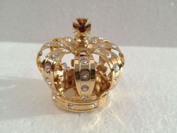 24K Gold Plated CROWN Spectra Crystal Lite Catcher